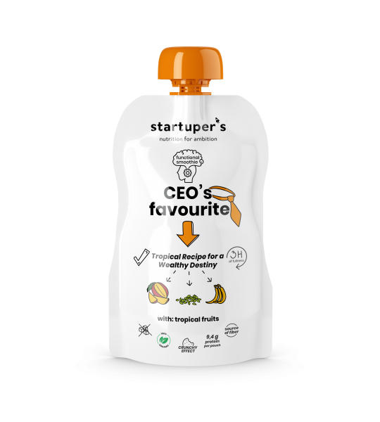 Startuper's Smoothies functional food CEO favourite organic smoothie minimal design packaging pouches