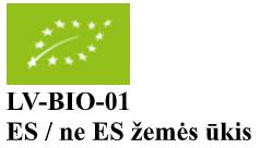 ekologiškumo organiškumo sertifikatas ES- ne ES žemės ūkis